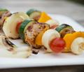 Szaszłyki z polędwiczki z warzywami
