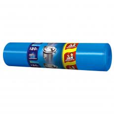 Worki na śmieci LD niebieskie 120l 25 szt
