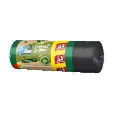 Zielony Dom Worki na śmieci z recyklingu z taśmą 35l 15 szt