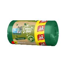 Zielony Dom Worki na śmieci z recyklingu zawiązywane 35l 22 szt