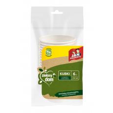 Zielony Dom Kubki z trzciny cukrowej 250 ml 6 szt