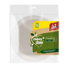 Zielony Dom Talerze z trzciny cukrowej 22,5 cm 6 szt