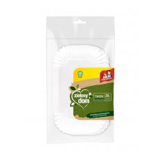 Zielony Dom Tacki biodegradowalne papierowe 13x20 cm 20 szt