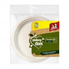 Zielony Dom Talerze z trzciny cukrowej 25szt 23cm