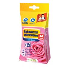 Rękawiczki warstwowe różowe rozmiar M